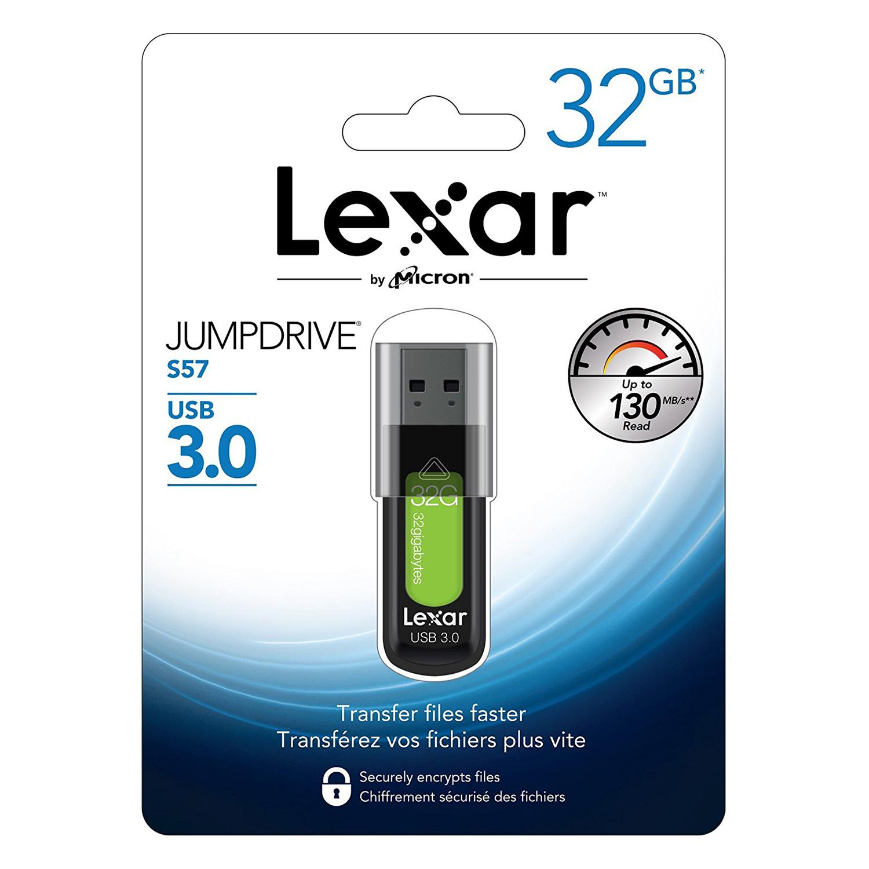 USB Lexar S57 32GB - USB 3.0 - Hàng Chính Hãng