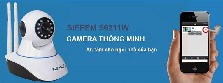 Camera IP Wi-Fi Siepem S6211W HD 720p
