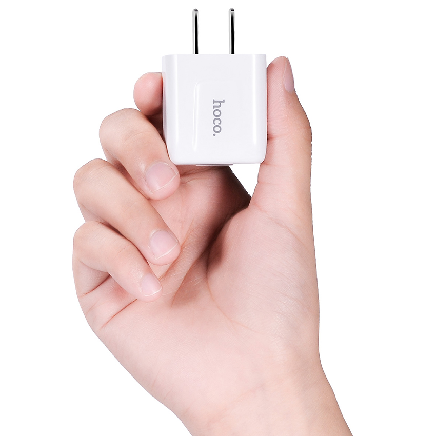 Sạc Hoco C2 Smart Charger with 1 USB - White - Hàng chính hãng