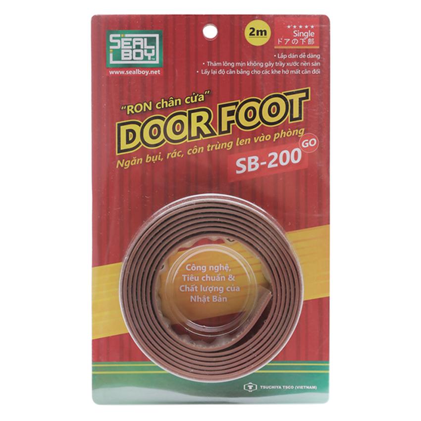 Miếng Dán Khe Cửa Đa Năng Sealboy Door - Foot SB200 GO Màu Nâu - 2.0M