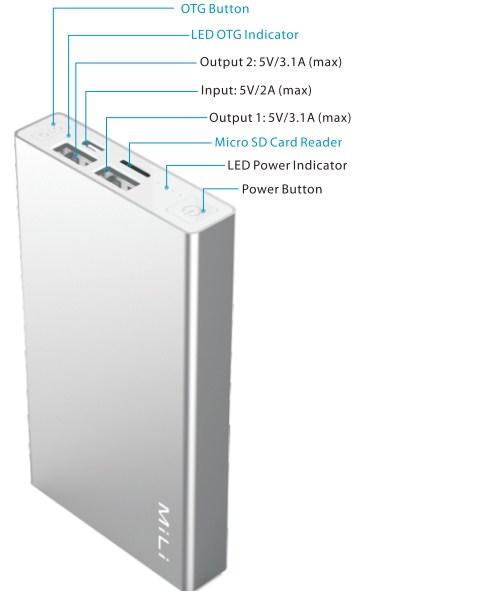 Pin Sạc Dự Phòng Mili Power Data I HB-T60 -6000 mAh