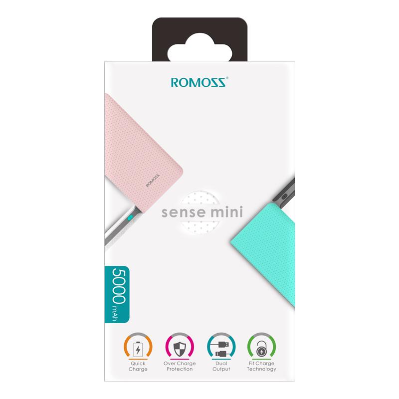 Pin Sạc Dự Phòng Romoss Sense Mini - 5000mAh - Chính Hãng