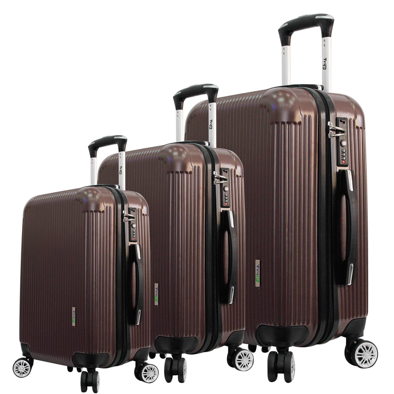 [Set 3 Vali (Size 50-60-70)] Vali Du Lịch Cao Cấp Trip - P807A - Nâu