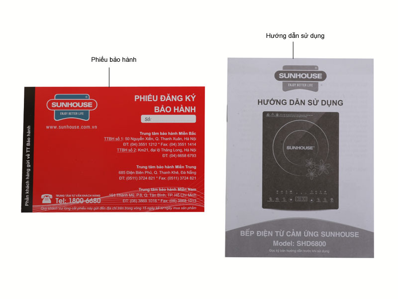 Bếp Điện Từ Sunhouse SHD6800 - Tặng Kèm Nồi Lẩu - Hàng chính hãng