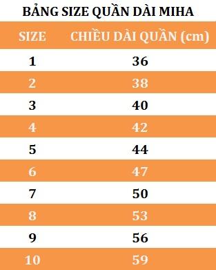 Combo 5 Quần Dài Cho Bé MihaBaby QD07