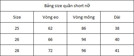 Quần Short Jeans Lưng Cao Trơn 003 A91 JEANS WSRBS003BK - Đen