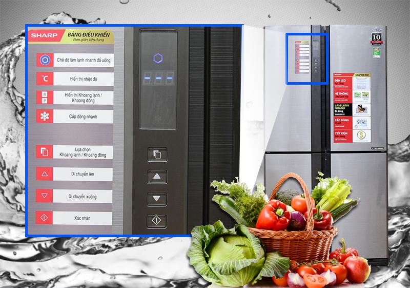 Tủ Lạnh Inverter Sharp SJ-FX680V-ST (678L)