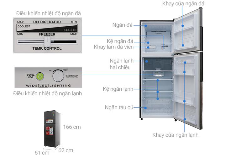 Tủ Lạnh Inverter Sharp SJ-X316E-DS (314L)