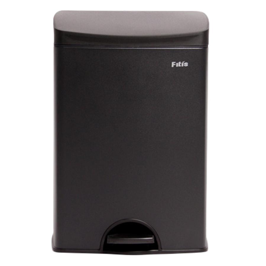 Thùng rác inox FITIS đạp vuông nhỏ SPS1-903 - đen - 15L