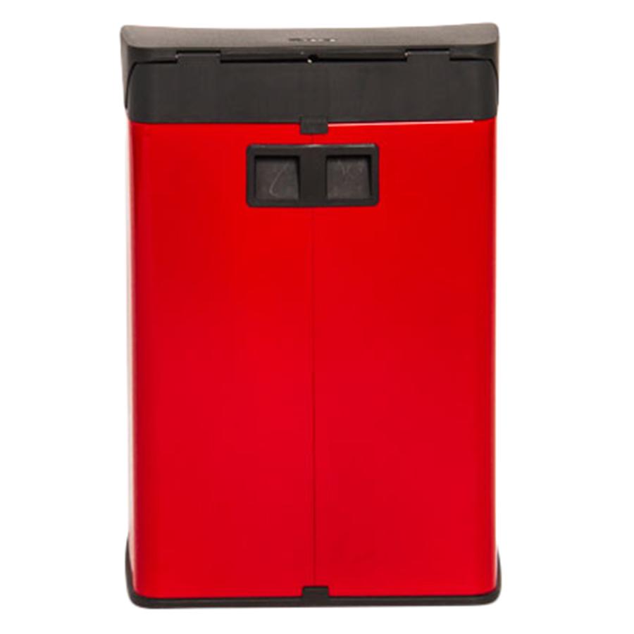 Thùng rác inox FITIS đạp vuông nhỏ SPS1-906 - đỏ - 15L