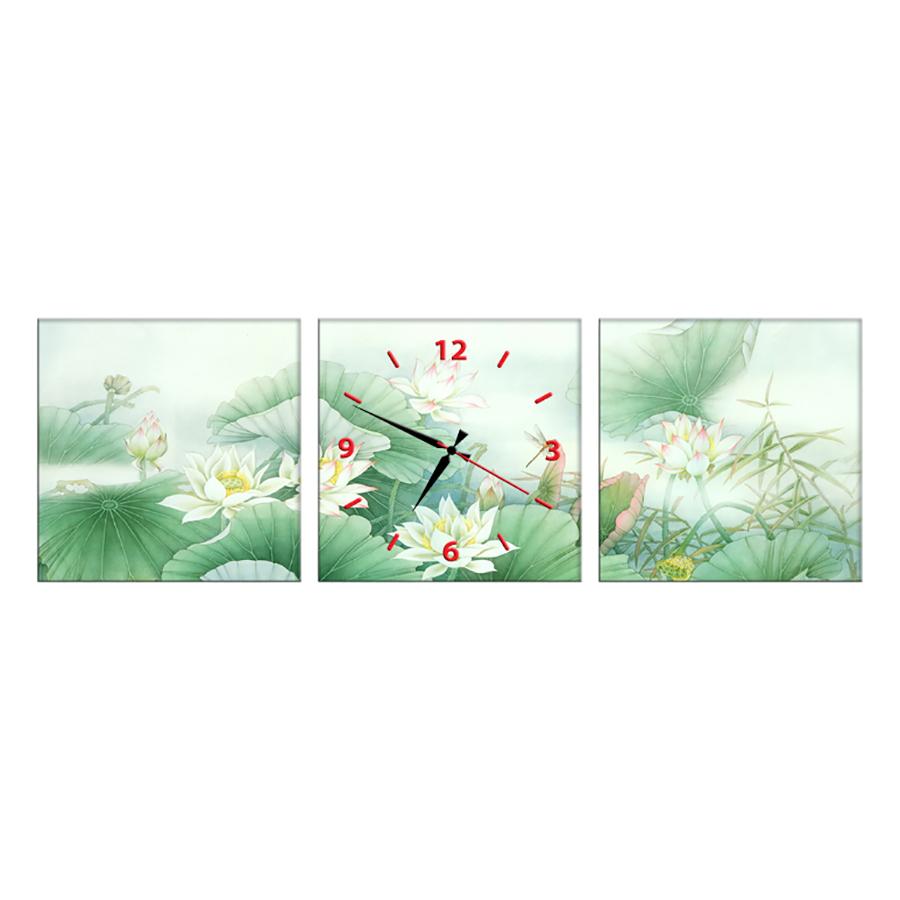 Tranh Đồng Hồ Treo Tường 3 Tấm Thế Giới Tranh Đẹp SS0066-DH
