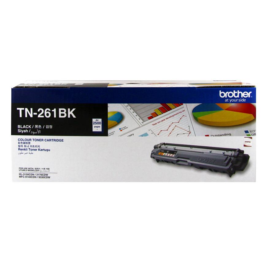 Brother TN-261BK Toner Cho HL-3150CDN/3170CDW/MFC-9140CDN/9330CDW (Black) - Hàng Chính Hãng