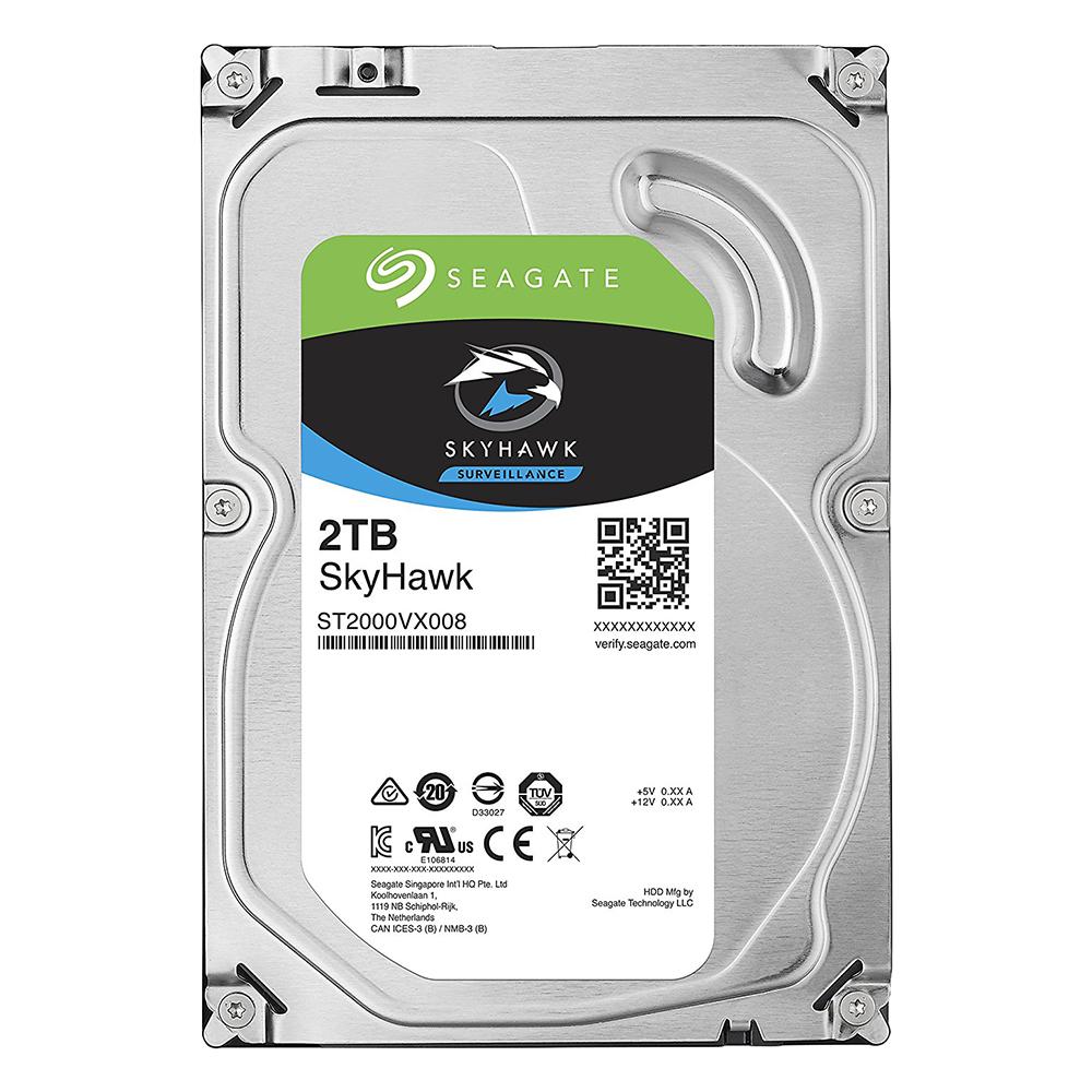 Ổ Cứng HDD Video Seagate SkyHawk 2TB/64MB/3.5 - ST2000VX008 - Hàng chính hãng
