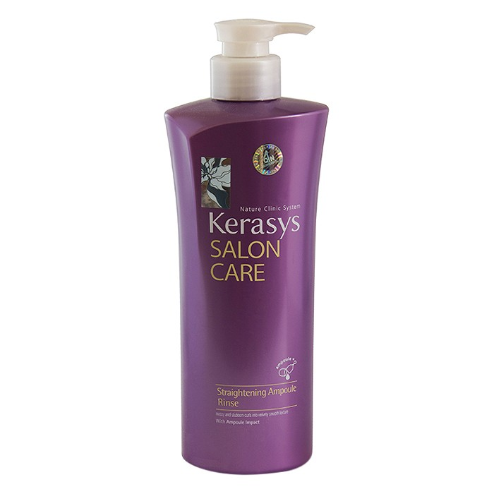 Combo Dầu Gội Cao Cấp Làm Suôn Mượt Tóc Kerasys Salon Care Straightening Ampoule Shampoo (470ml) + Dầu Xả Cao Cấp Làm Suôn Mượt Tóc Kerasys Salon Care Straightening Ampoule Conditioner (470ml)