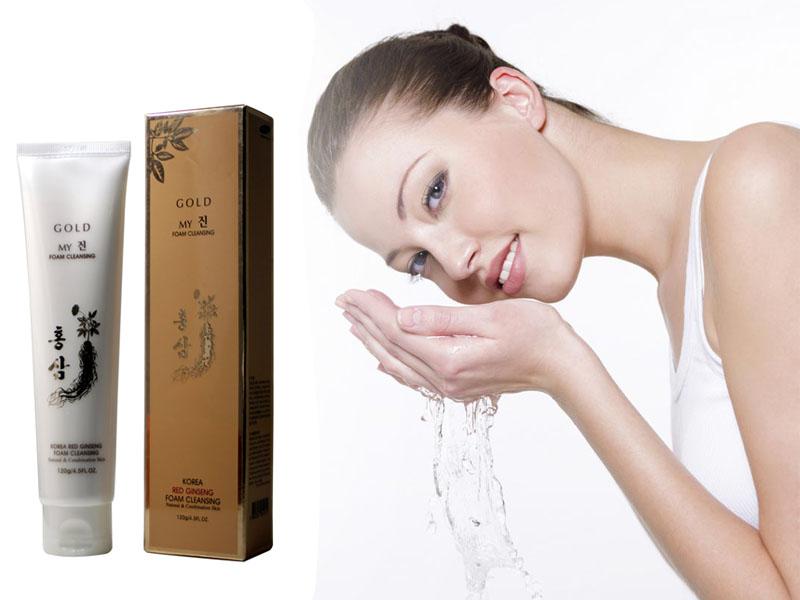 Sữa Rửa Mặt Sâm Vàng My Gold Korea Red Ginseng Foam Cleansing (120ml)