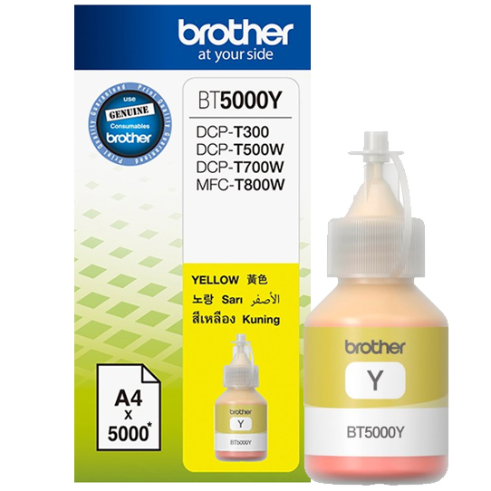 Brother BT5000Y Ink Cho DCP-T300/T700W/MFC-T800W (Vàng)