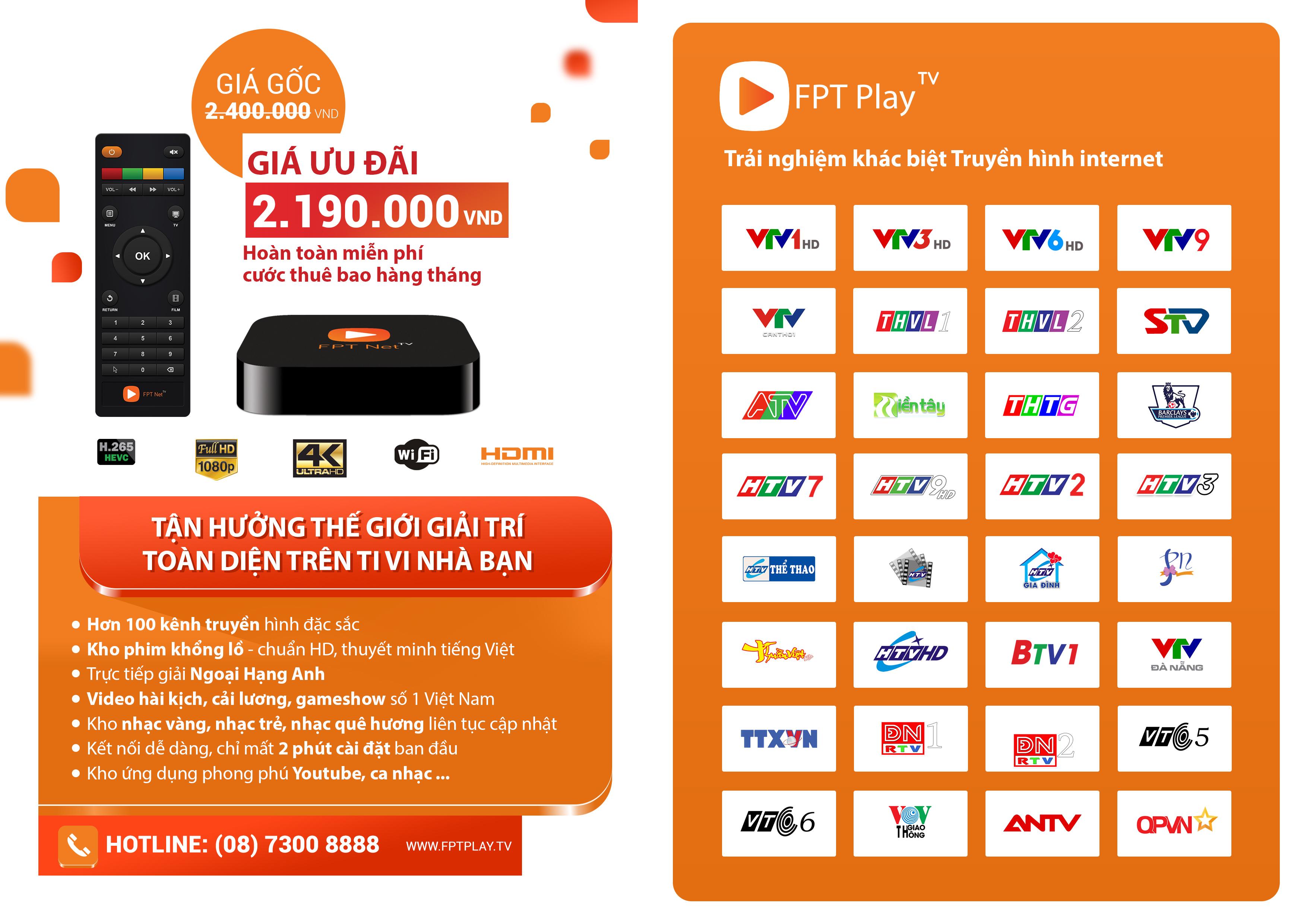 FPT Play TV – Truyền hình Internet
