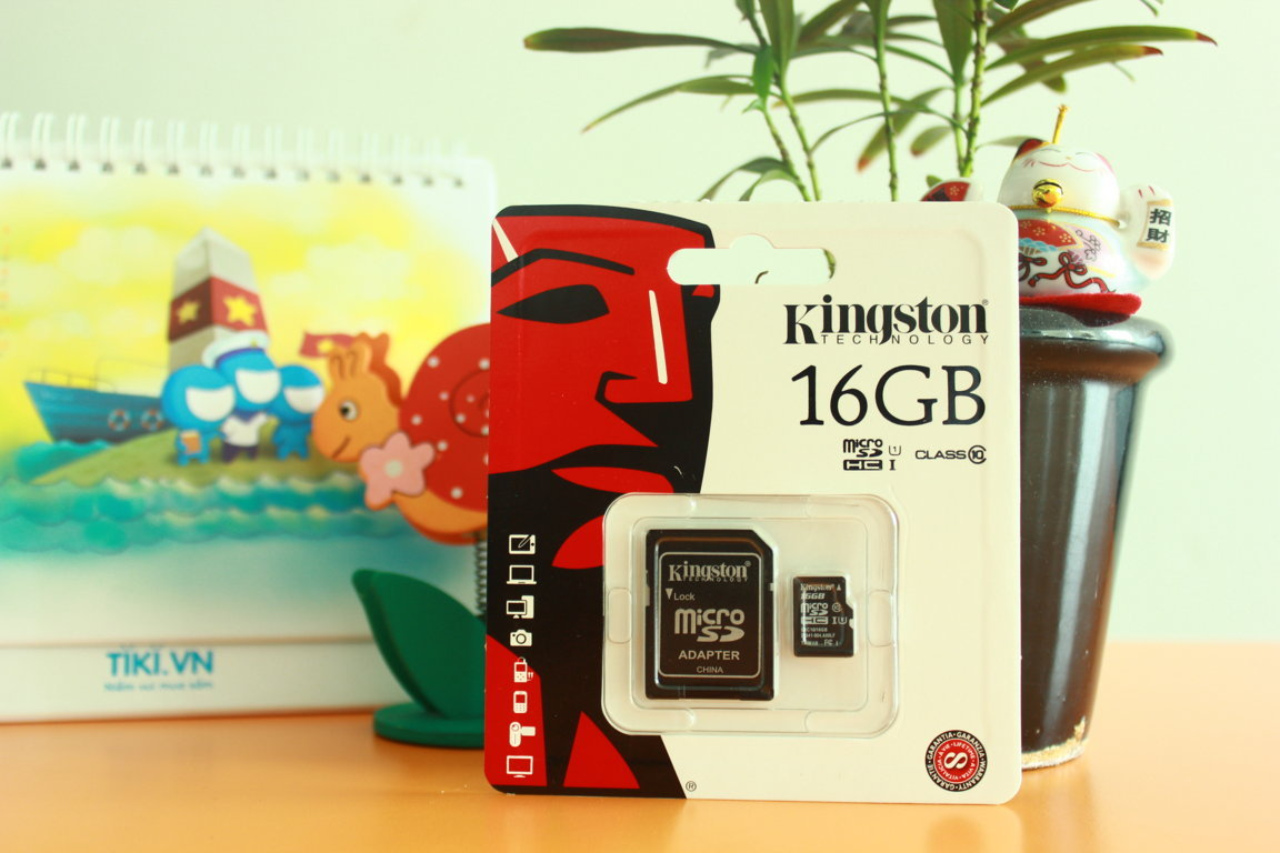 Thẻ nhớ MicroSD Kingston 16GB Class 10