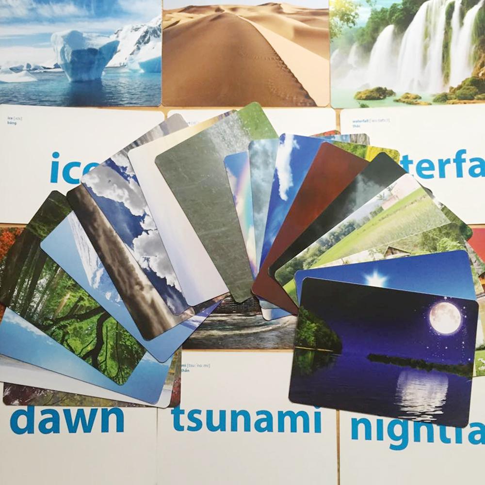 Flashcard Bé Nhận Thức Thế Giới Xung Quanh - Thiên Nhiên Và Thời Tiết