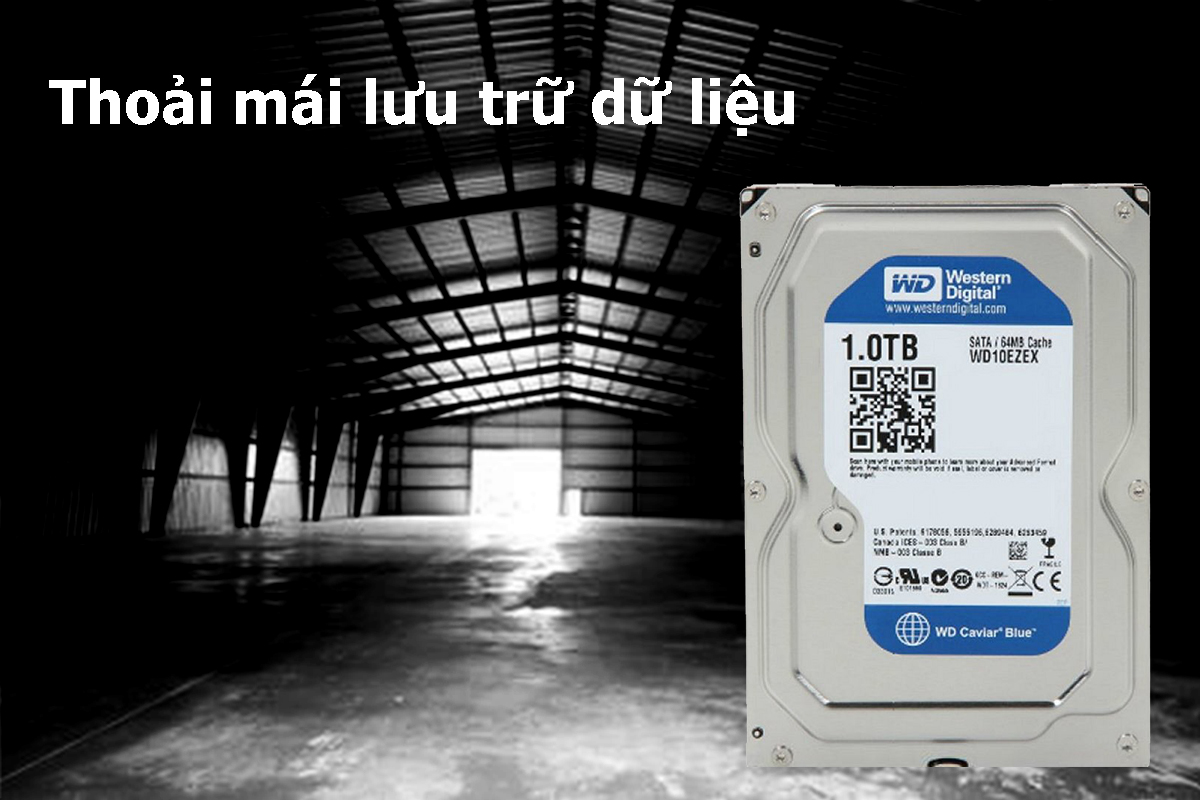 Ổ Cứng Trong WD Blue™ 1TB/64MB/7200rpm/3.5 - WD10EZEX