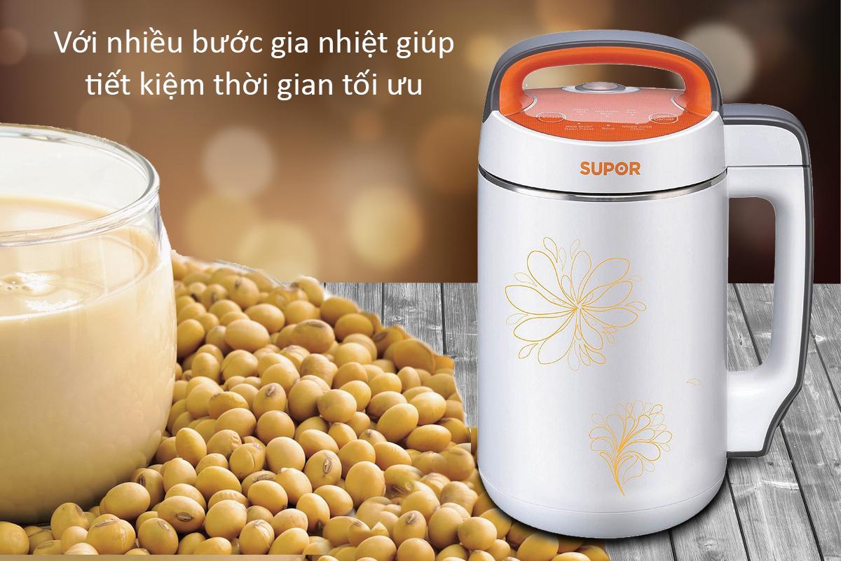 Máy Làm Sữa Đậu Nành Supor SMMY80VN (1.2L) -Trắng