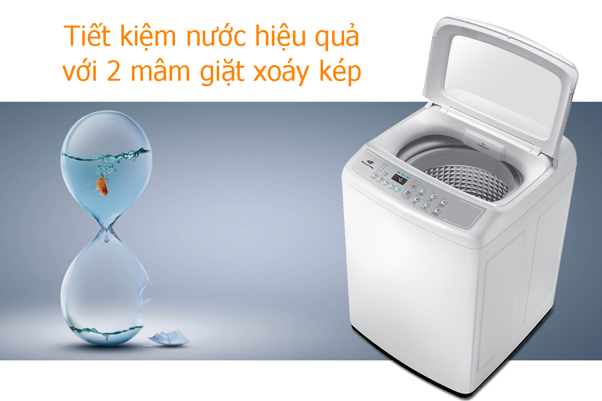 Máy Giặt Cửa Trên SamSung WA72H4000SW (7.2Kg) - Trắng