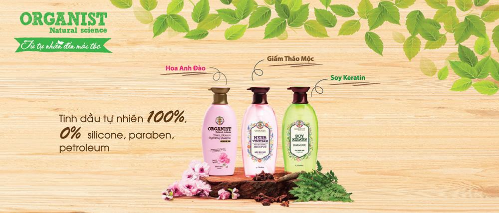Dầu Gội Hoa Anh Đào Dưỡng Ẩm Organist Natural Science Cherry Blossom Hydrating Shampoo 380ml