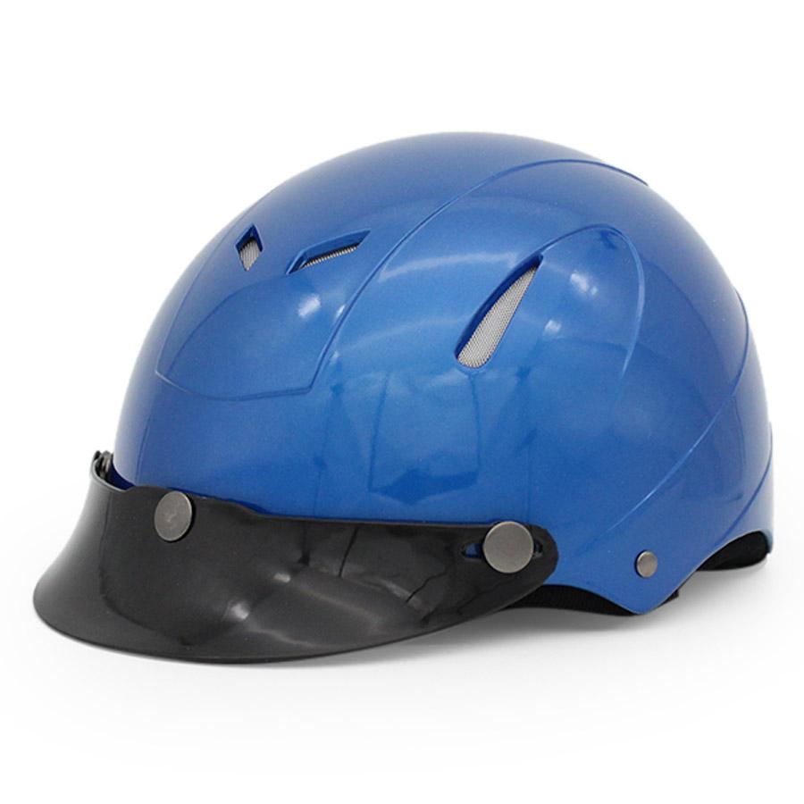 Mũ Bảo Hiểm 1/2 Đầu Protec Disco Không Kính Phối Xanh Đậm - Size L
