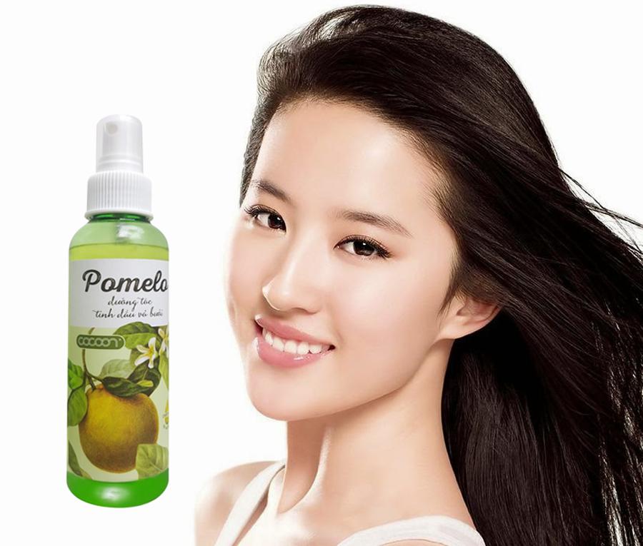Pomelo xịt dưỡng tóc tinh dầu vỏ bưởi cocoon (130ml)
