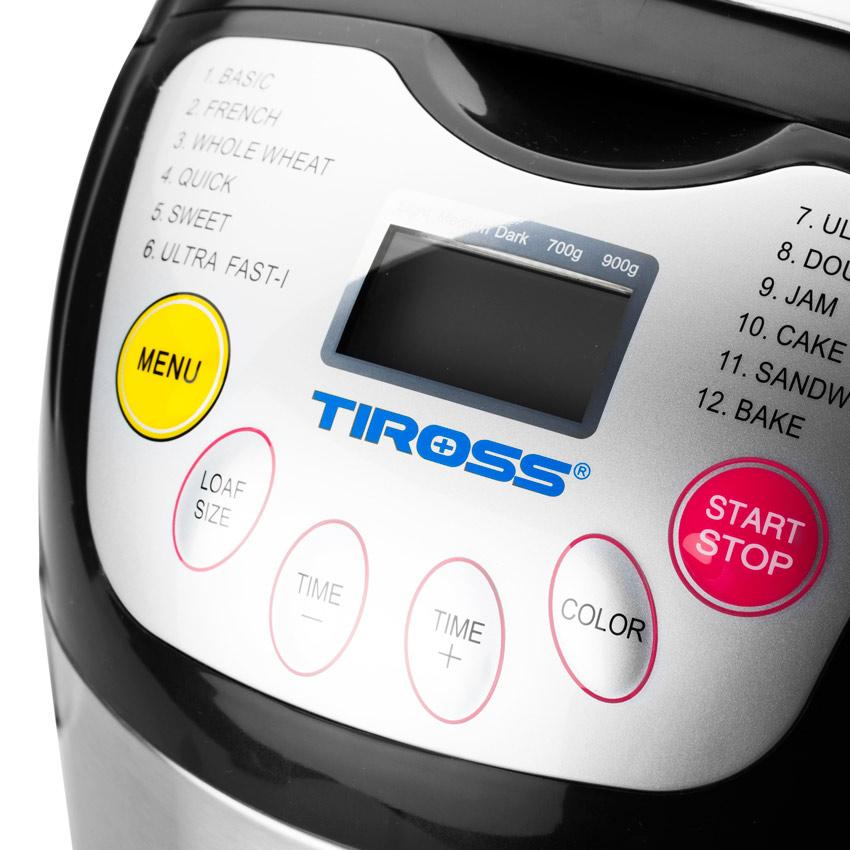 Máy Làm Bánh Mì Tiross 12 Chức Năng TS821 - Hàng chính hãng