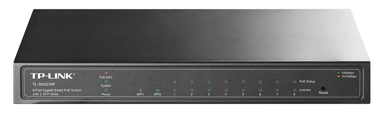 TP Link TL-SG2210P - Smart Switch Để Bàn PoE 8 Cổng Gigabit
