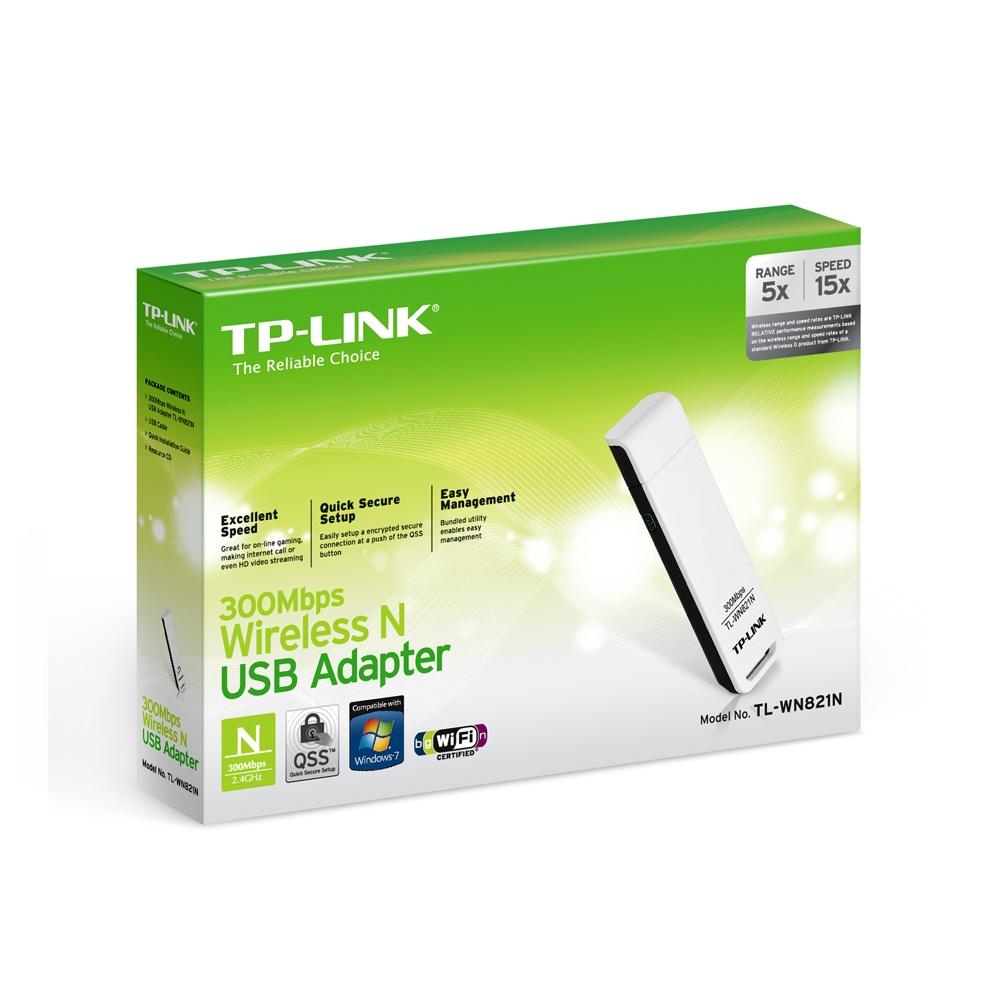 TP-Link  TL-WN821N - USB Wifi Chuẩn N Tốc Độ 300Mbps - Hàng Chính Hãng