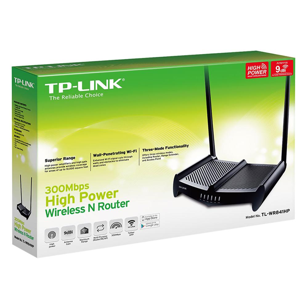TP-Link  TL-WR841HP (Anten 9dbi *2) - Router Wifi chuẩn N 300Mbps công suất cao - Hàng Chính Hãng