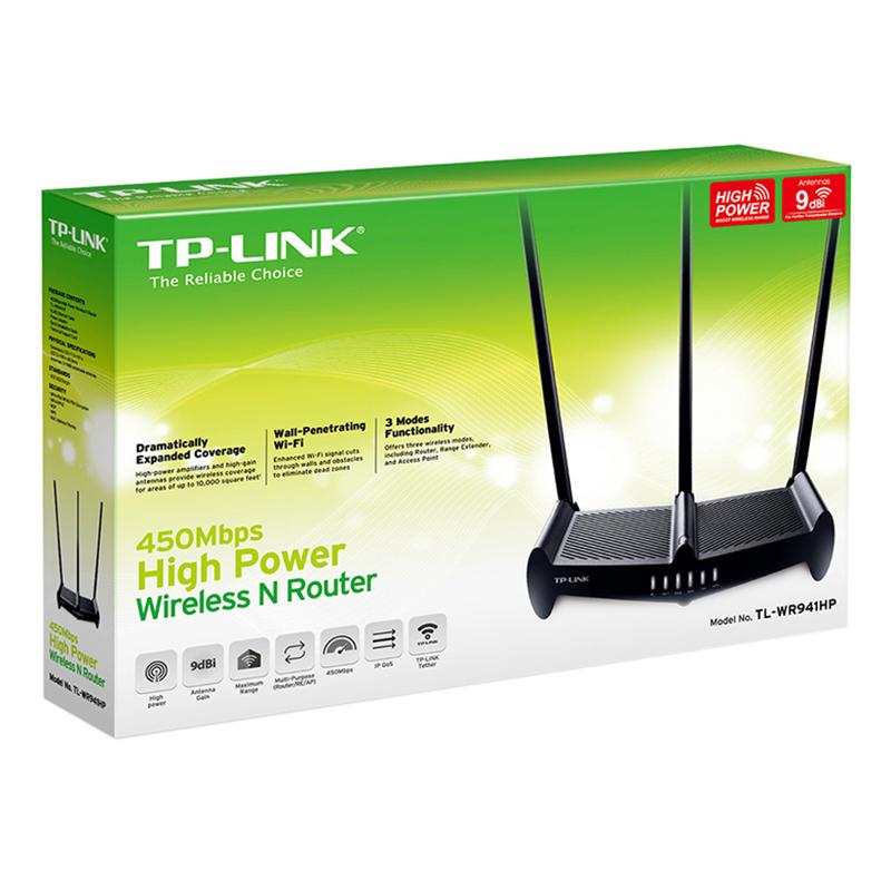 TP-Link  TL-WR941HP - Bộ Phát Wifi Công Suất Cao 450Mbps - Hàng Chính Hãng