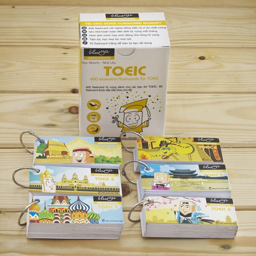 Hộp Blueup TOEIC 600 Essential Flashcards For Toeic Trọn Bộ - Alphabook