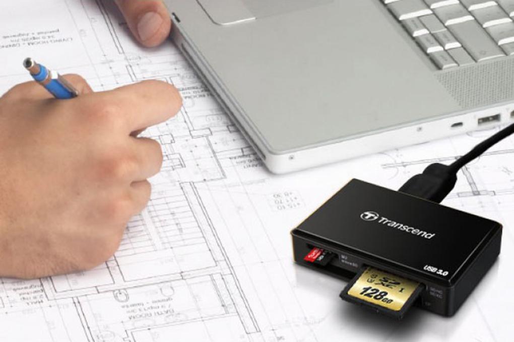 Đầu Đọc Thẻ Transcend TS-RDF8K - USB 3.0 - Hàng chính hãng