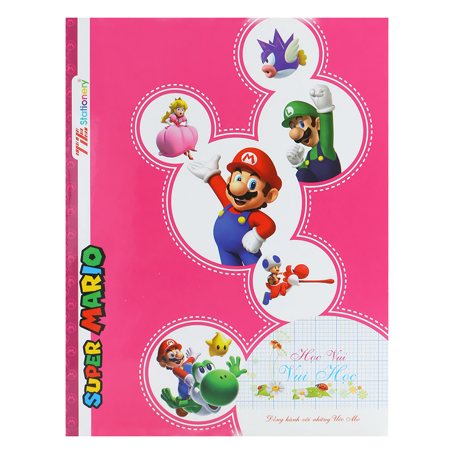 Lốc 10 Tập Caro 5 Ô Ly T-Book Super Mario TSM-R512 (96 Trang)