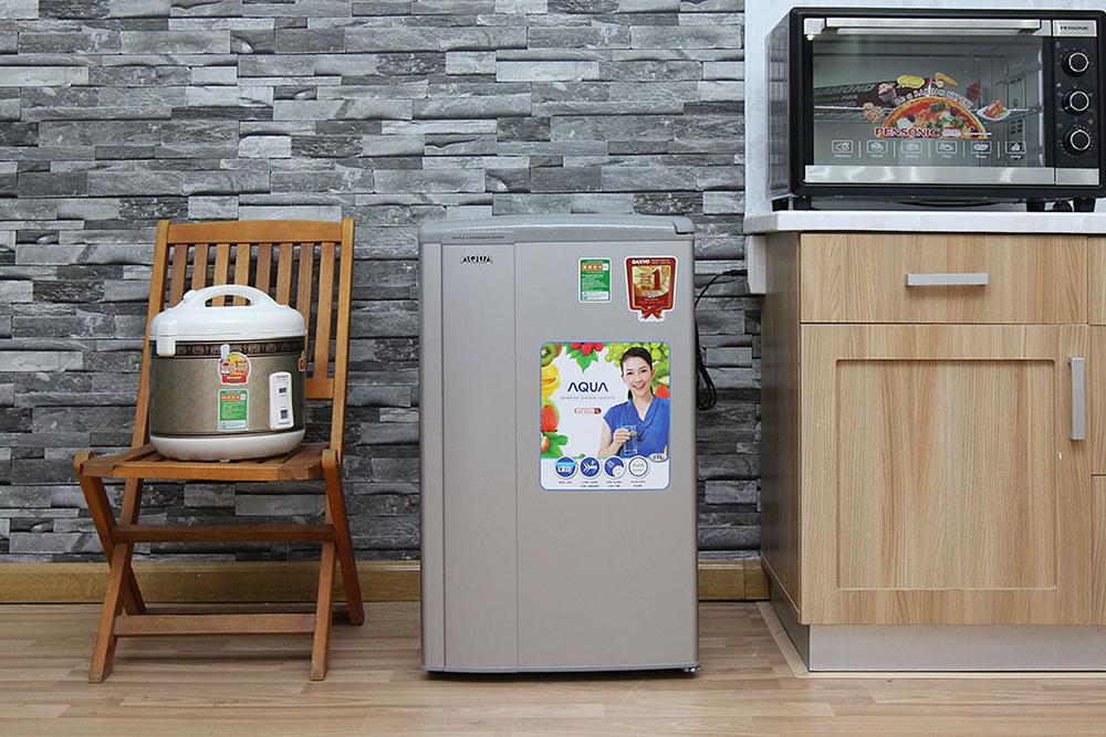Tủ Lạnh Aqua AQR-95AR (90 Lít) - Xám Nhạt
