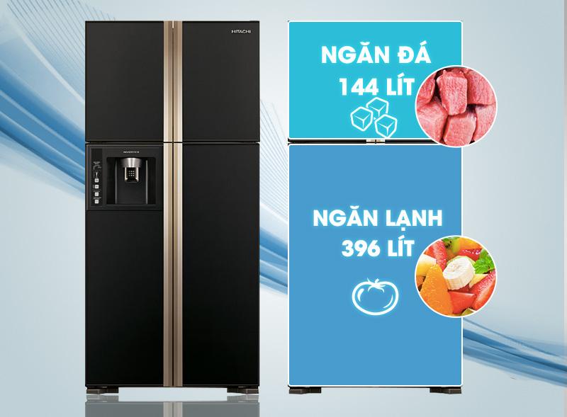 Tủ Lạnh Inverter Hitachi R-W660FPGV3X-GBK (540 lít) - Đen