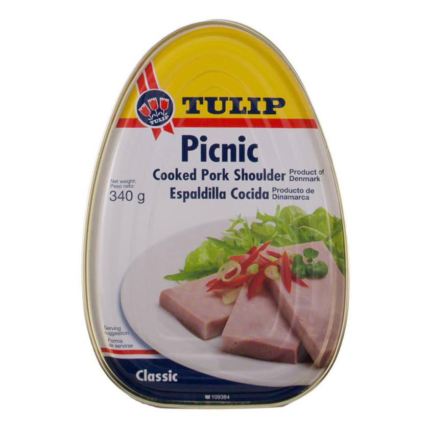 Thịt Hộp Tulip Picnic Shoulder 340g - 5762385042840,62_171179,139000,tiki.vn,Thit-Hop-Tulip-Picnic-Shoulder-340g-62_171179,Thịt Hộp Tulip Picnic Shoulder 340g