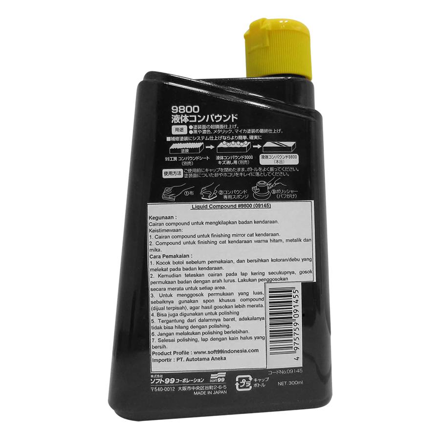 Dung Dịch Lấp Mờ Vết Xước, Đánh Bóng Phục Hồi Sơn Ô Tô Liquid Compound 9800 B-145 Soft99