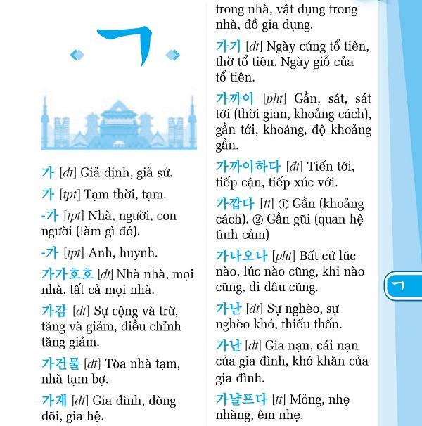 Sổ Tay Từ Vựng Tiếng Hàn Thông Dụng Trình Độ A