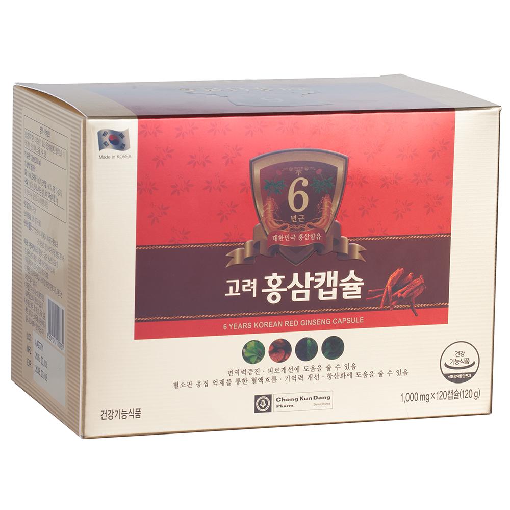 Thực Phẩm Chức Năng Chong Kun Dang Viên Nang Hồng Sâm 6 Năm Tuổi - Hộp 120 Viên - 3089389334705,62_3904793,850000,tiki.vn,Thuc-Pham-Chuc-Nang-Chong-Kun-Dang-Vien-Nang-Hong-Sam-6-Nam-Tuoi-Hop-120-Vien-62_3904793,Thực Phẩm Chức Năng Chong Kun Dang Viên Nang Hồng Sâm 6 Năm Tuổi - Hộp 120 Viên