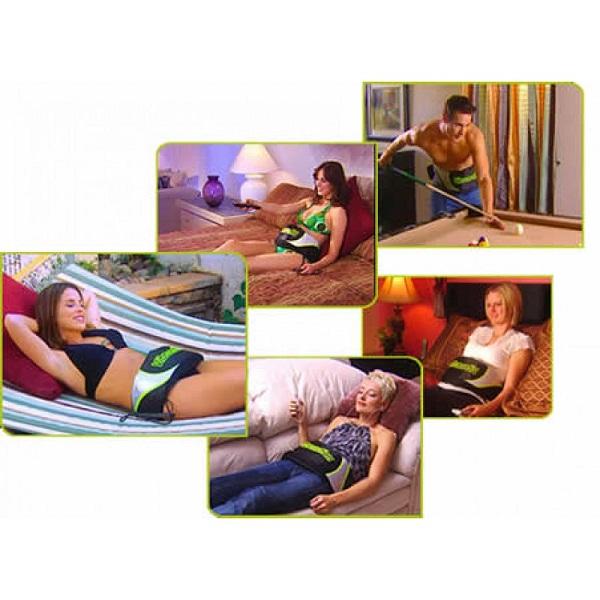 Đai Massage Thon Gọn Bụng Vibroaction (Đen)