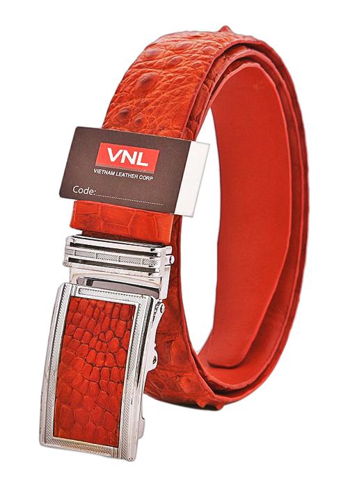 Thắt Lưng Nam Da Cá Sấu Da Giày Việt Nam VNLDLCS0TK21N - Nâu