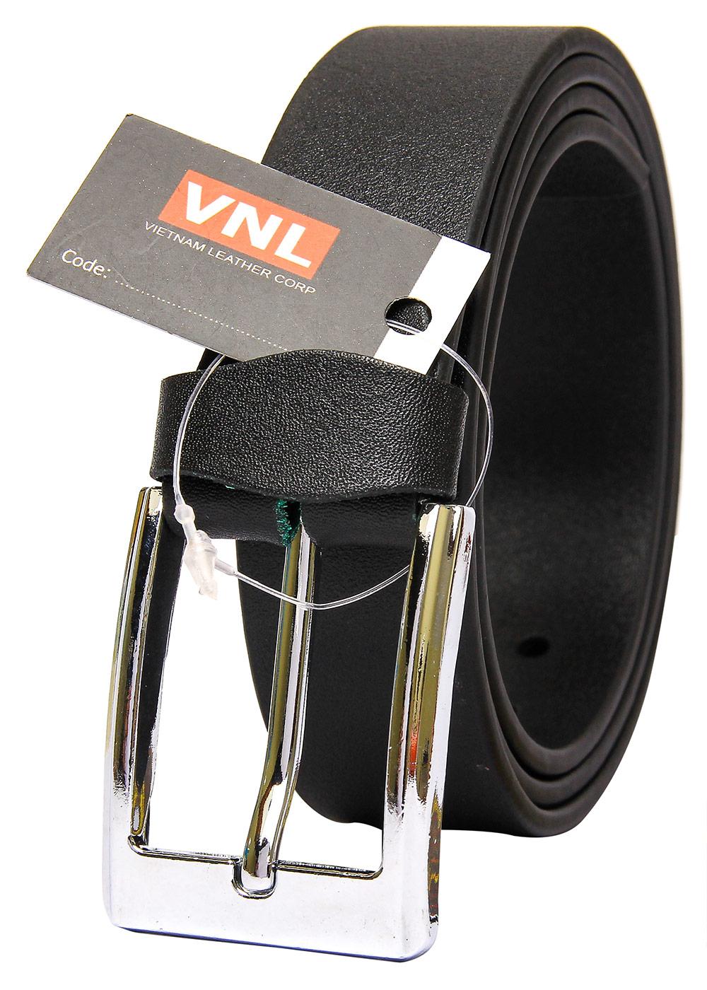 Thắt Lưng Nam Da Thật Cao Cấp Da Giày Việt Nam VNL0TK12D - Đen