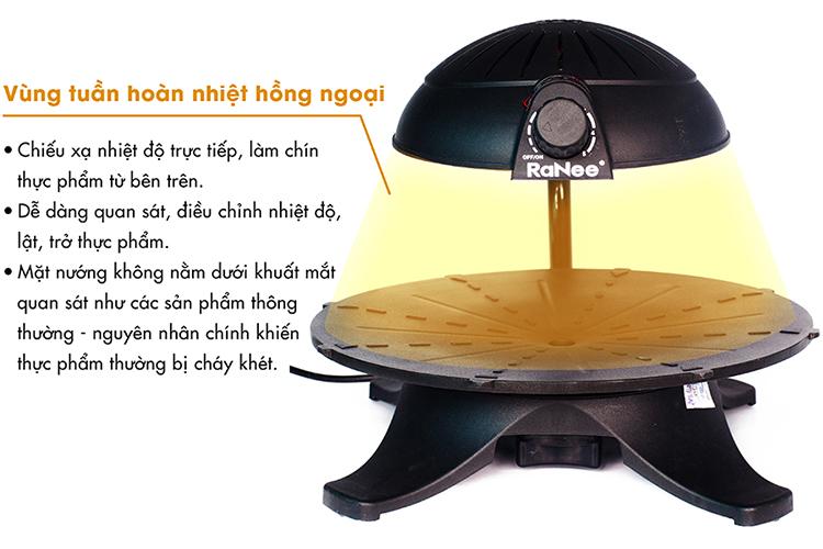 Bếp Nướng Hồng Ngoại 3D Ranee RN-IR001 (1300W)