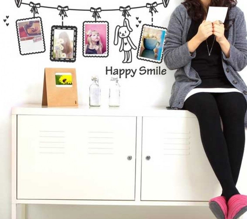 Decal Dán Tường NineWall Happy Smile W154
