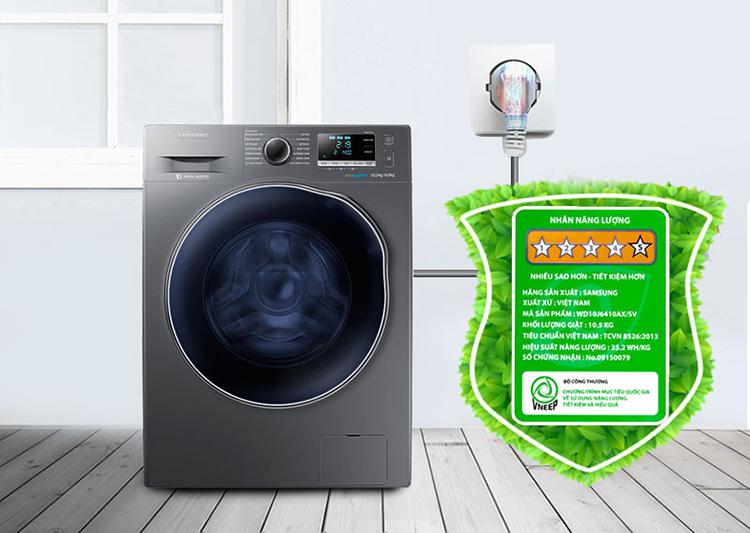 Máy Giặt Sấy Cửa Trước Samsung WD10J6410AX/SV (10.5Kg)