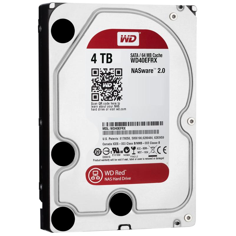 Ổ Cứng HDD NAS WD Red™ 4TB/64MB/5400/3.5 - WD40EFRX - Hàng Chính Hãng